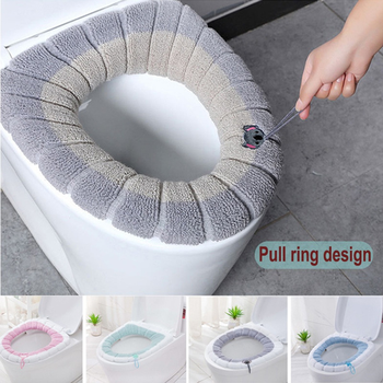 1Pcs Bathroom Toilet Seat Cover Soft Warmer Washable Mat Cover Pad Cushion Seat Case Toilet Lid Cover Accessories Bath Home 1