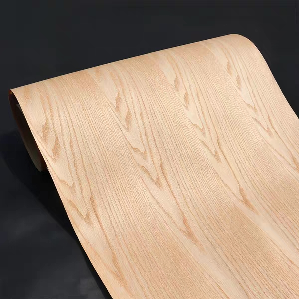 Natural Crown Cut Red Oak 2500*600*0.25mm Craft Paper Wood Veneer