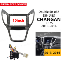 1Din2Din Car DVD Frame adattatore per montaggio Audio Dash Trim kit Facia Panel 10 pollici per CHANGAN CS75 2013-16 Double Din Radio Player