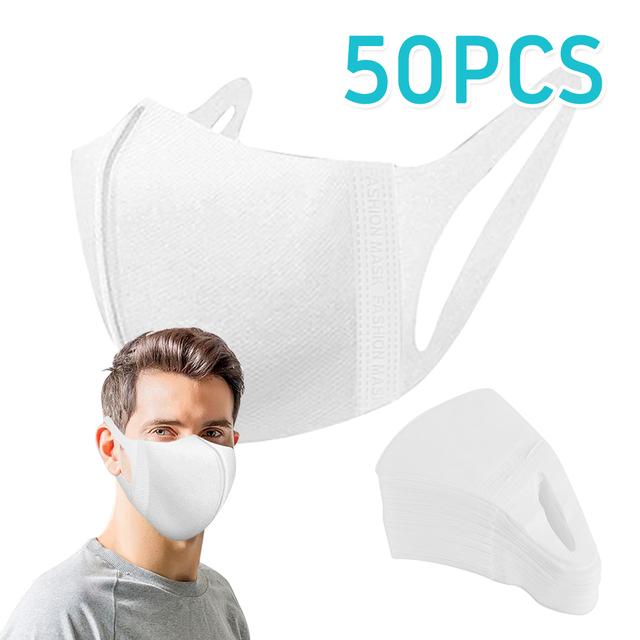 20/50Pcs Three-layer Protection Non Woven Dust Face Mouth Masks Disposable Anti-Dust Earhook Mask Flu 4