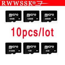 10 unids/lote nuevo TF tarjeta 128MB 256MB 512MB 1GB 2GB 4GB 8GB 16GB 32GB tarjeta micro- SD Micro memoria USB tarjeta
