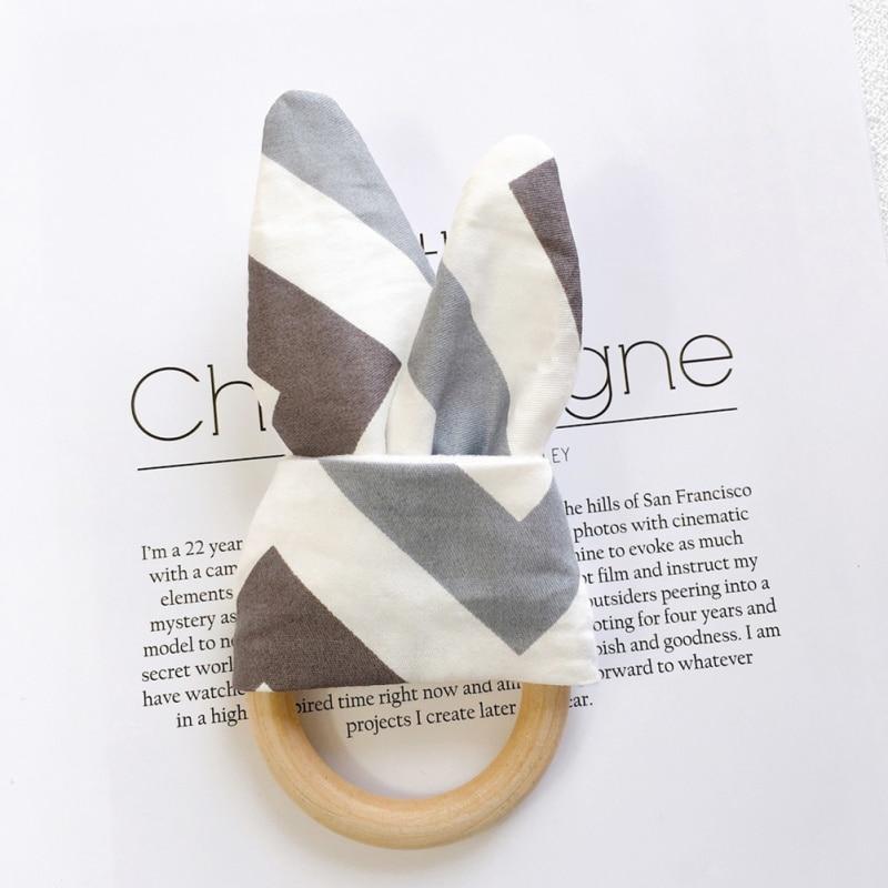 Милый детский Прорезыватель деревянное кольцо зубное кольцо детский прорезыватель зуб упражняющая игрушка