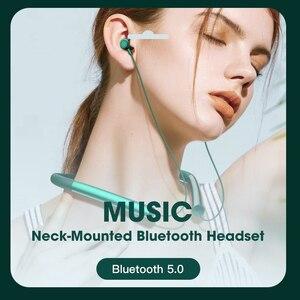 Image 5 - אלחוטי אוזניות עם מיקרופון, Bluetooth 5.0 אוזניות אוזן ניצנים, Neckband IPX5 עמיד למים ספורט ריצת אוזניות אוזניות