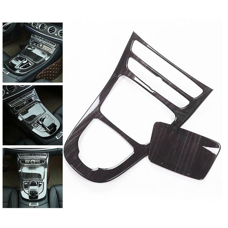 2 pièces/ensemble couvercle noir garniture Grain de bois engrenage pour Mercedes Benz classe E Fit W213 pratique Durable