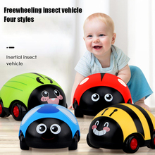 Cute Cartoon Insect Pull Back Car Baby Funny Educational Toys Ladybug Inertia Car Clockwork