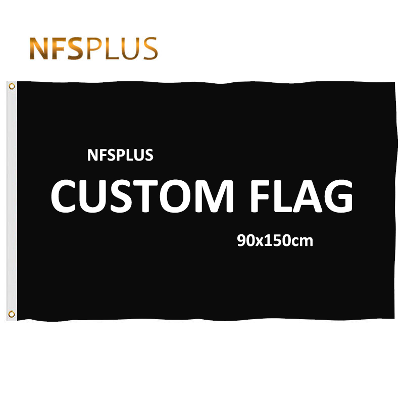 Custom <font><b>Flag</b></font> <font><b>90x150cm</b></font> Polyester Pongee With Customized Printing Design Brass Grommets Hanging Flying Decorative <font><b>Flags</b></font> and Banners image