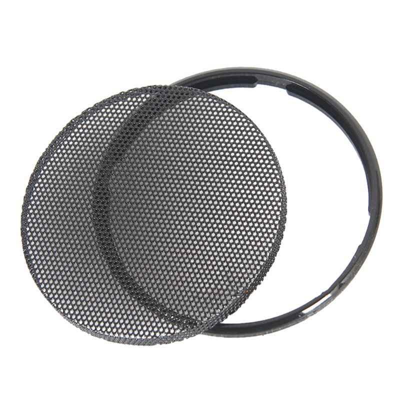 1/2/3/4/5/6 inç siyah araba hoparlörü ızgara örgü yuvarlak boynuz koruyucu kapak daire muhafaza net DIY dekoratif aksesuarları