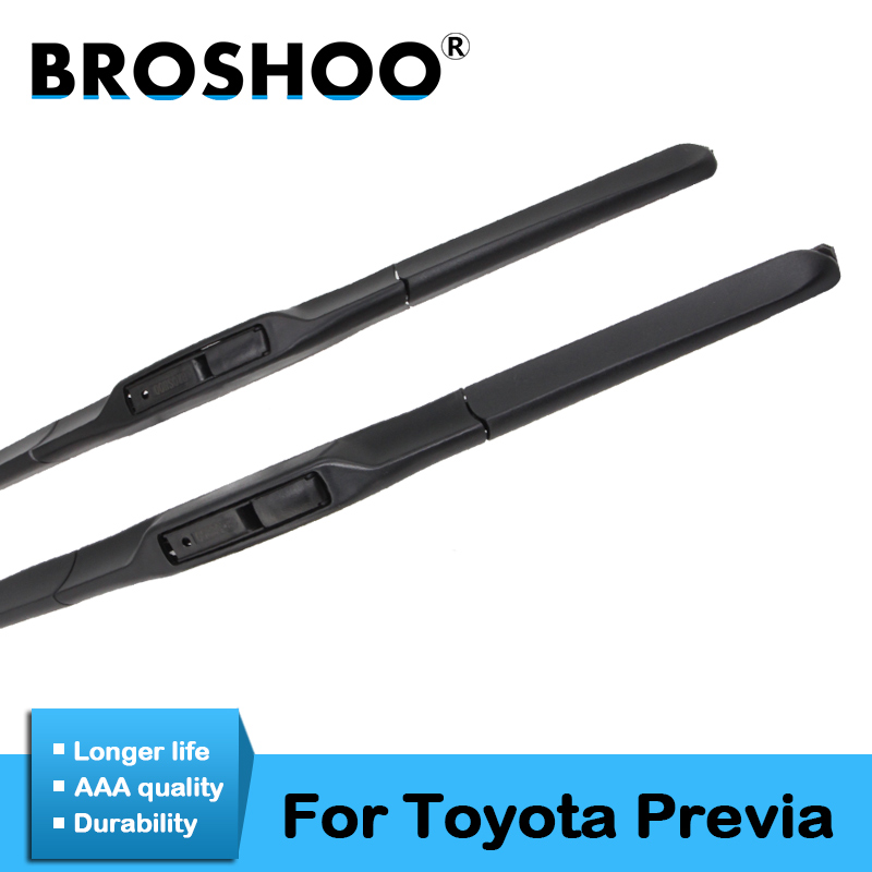 BROSHOO Car Windscreen Wipers Blade For Toyota Previa 2000 2001 2002 2003 2004 2005 2006 2007 2008 2009 2010 2011 2012 2013|Windscreen Wipers| |  - title=