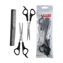 Tesoura de corte de cabelo pente cabeleireiro barbeiro tesoura desbaste conjunto corte de cabelo tesoura cortador de cabelo pente