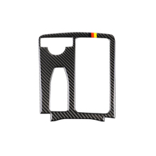 Carbon Fiber Left/Right Driving Indoor Gear Cup Panel Cover Trim for Mercedes Benz C/E-Class W204 W212 2007-2013 Car Styling chrome car center console gear shift panel decorative strips water cup holder cover trim sticker for mercedes benz c class w204
