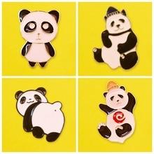 Prajna Chinese National Treasure Panda Pins Badges for Clothes Zinc Alloy Cartoon Badges brooch Anime Pin Cute Badge Metal zinc alloy artificial diamond crown pin brooch silver