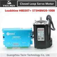Orignal Leadshine Closed Loop driver kit 2NM HBS507 573HBM20-1000 3 phase servo motor with 1000 line encoder