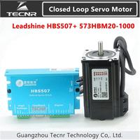 Orignal Leadshine Closed Loop driver kit 2NM HBS507 573HBM20 1000 3 phase servo motor with 1000 line encoder