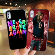 Phone Case For iPhone X XR XS MAX Never Broke Again YoungBoy Pop rapper Case For iPhone 11 6 6S 7 8Plus Soft silicone Cover never broke again youngboy pop rapper case for iphone 11 pro xs max xr x 6 6s 7 8 plus 5s se black soft tpu silicone phone cases