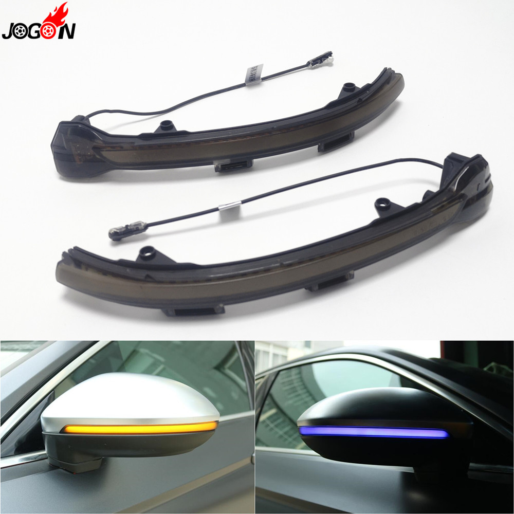 <font><b>LED</b></font> Dynamic Turn Signal Light Side Mirror Sequential Indicator Lamp <font><b>Trim</b></font> For VW <font><b>Golf</b></font> 7 VII MK7.5 Jetta MK7 GTI R GTD GTE Touran image