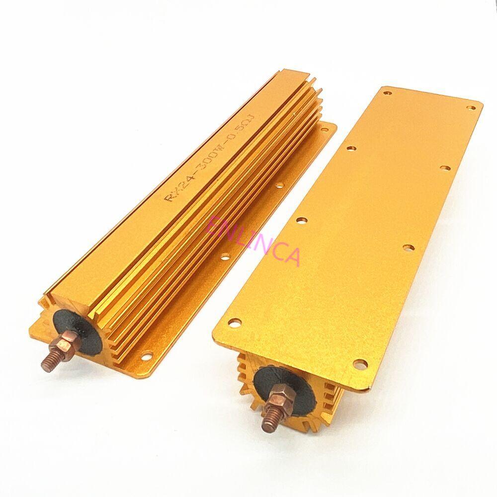 RX24 300W Aluminum Power Metal Shell Case Wirewound Resistor 0.01 ~ 100K Full Value 2 4 6 8 10 20 100 150 200 300 500 1K 10K Ohm