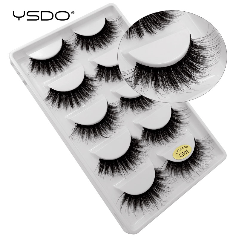 Image 5 - YSDO 50 boxes eyelashes mink eyelash strip 3d lashes false lashes makeup 3d mink lashes 250 pairs eyelashes extension wholesale-in False Eyelashes from Beauty & Health