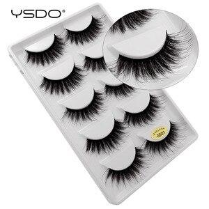Image 5 - YSDO 50 boxes eyelashes mink eyelash strip 3d lashes false lashes makeup 3d mink lashes 250 pairs eyelashes extension wholesale
