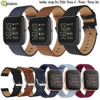 Leder Uhr Band Straps für Fitbit versa 2 Band silikon Armband Smart armbänder für Fitbit versa lite / versa handgelenk band