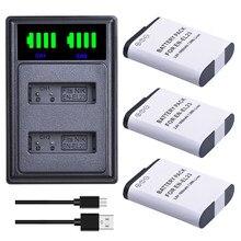 Batterie ENEL23 EN EL23 + double chargeur USB, avec port de Type C, pour appareil photo Nikon COOLPIX P900, P610, P600, B700, S810c