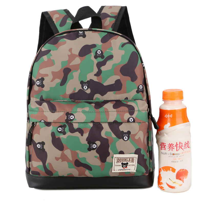 Korean-style-Style Contrast Color CHILDREN'S Baby Backpack Trend Camouflage Young STUDENT'S Backpack