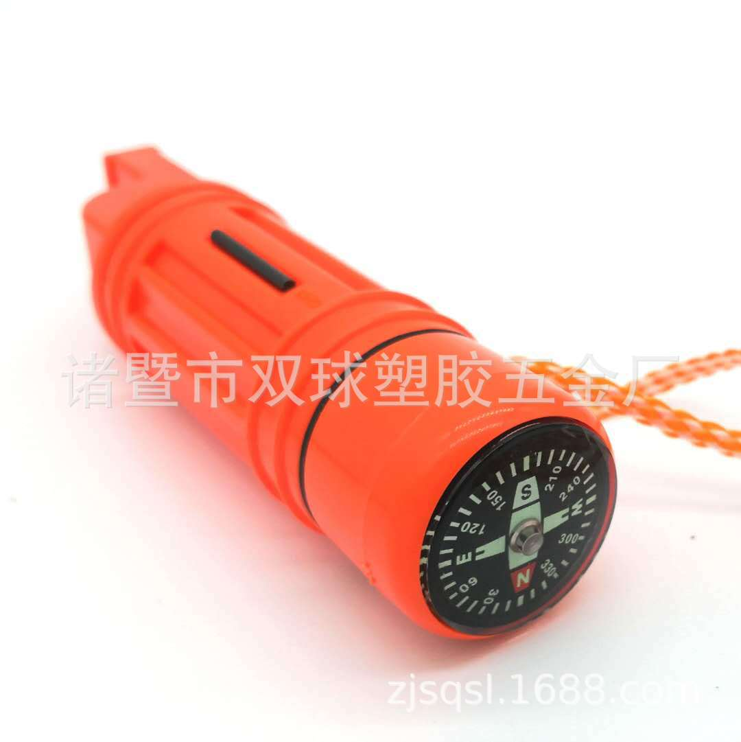 Manufacturers Direct Selling Amazon Hot Sales 5-in-1 Multifunctional Compass Whistle Outdoor Whistle Plastic Rescuing Whistle