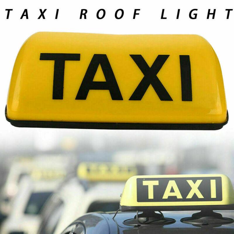 Universal Taxi Schild Dachplatte Dachschild Gelbe Lampe Licht TAXI Beleuchten LED Taxi Cab Roof Light