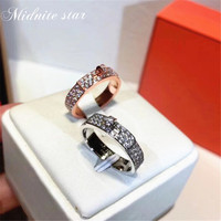 2019 Famous brand stainless steel ladies engagement gift custom ring