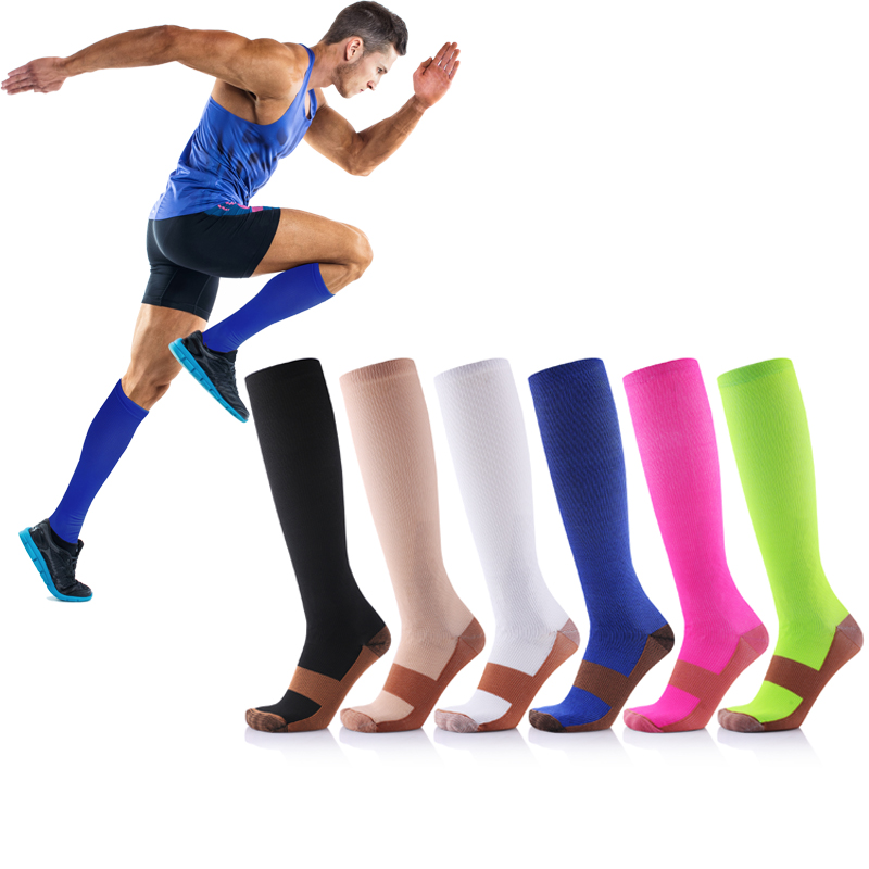 Copper-Infused Compression Socks  (20-30mmHg) For Men & Women - Best Stockings For Running, Medical, Athletic, Edema, Diabetic