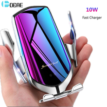 Automatic Clamping Wireless Car Charger Mount Infrared Sensor QI 10W Fast Charging Holder For iPhone 11 X XS XR 8 Samsung S10 S9