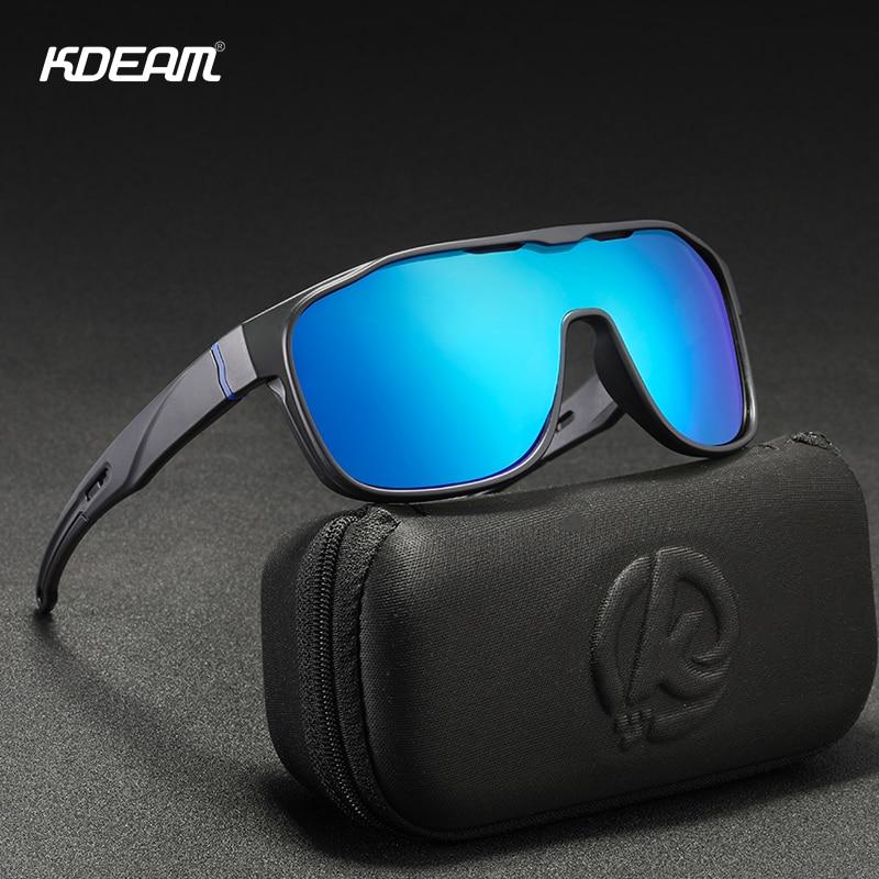 KDEAM Large Oversize Windproof Sunglasses UV400 Sport Cycling Bike Sunglasses