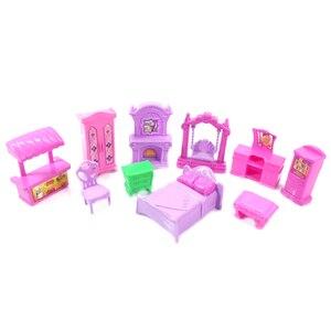 22 шт. Игровой Набор для кукольного домика, пластиковая мебель, миниатюрные комнаты, детские игрушки для ролевых игр, мебель, игрушечный кукольный домик #10|Игрушечная мебель|   | АлиЭкспресс