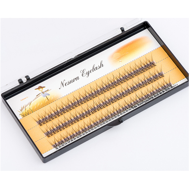 The latest Korean pop fishtail type Fashion dovetail fly eyelash Two long middle short plant grafting false eyelashes wholesale 5