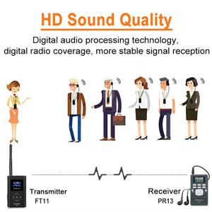 Image 5 - 1 FM Transmitter FT11+10Pcs FM Radio Receiver PR13 Wireless Voice Transmission System For Guiding Church Meeting Training