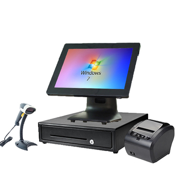Wholeset PC EPOS cash register pos terminal commercial retail receipt printer cash drawer  barcode scanner POS Hardware