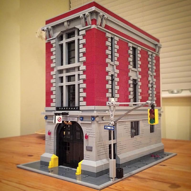 Oyuncaklar ve Hobi Ürünleri'ten Bloklar'de 83001 4705 ADET Ghostbusters Firehouse genel merkezi Uyumlu 16001 75827 Modeli Yapı Kitleri Blokları Tuğla Oyuncaklar Çocuklar Için'da  Grup 1