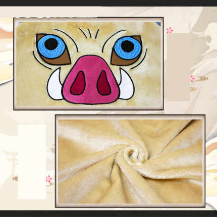 Новинка; костюм для косплея «Demon Slayer»; Kimetsu no Yaiba; Cotumes Hashibira Inosuke; плащ со Свинкой; плащ на пуговицах с капюшоном; фланелевый банный халат; Пижама; шаль