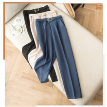 JUJULAND woman classic solid pants high quality formal  Straight suit trousers 8001