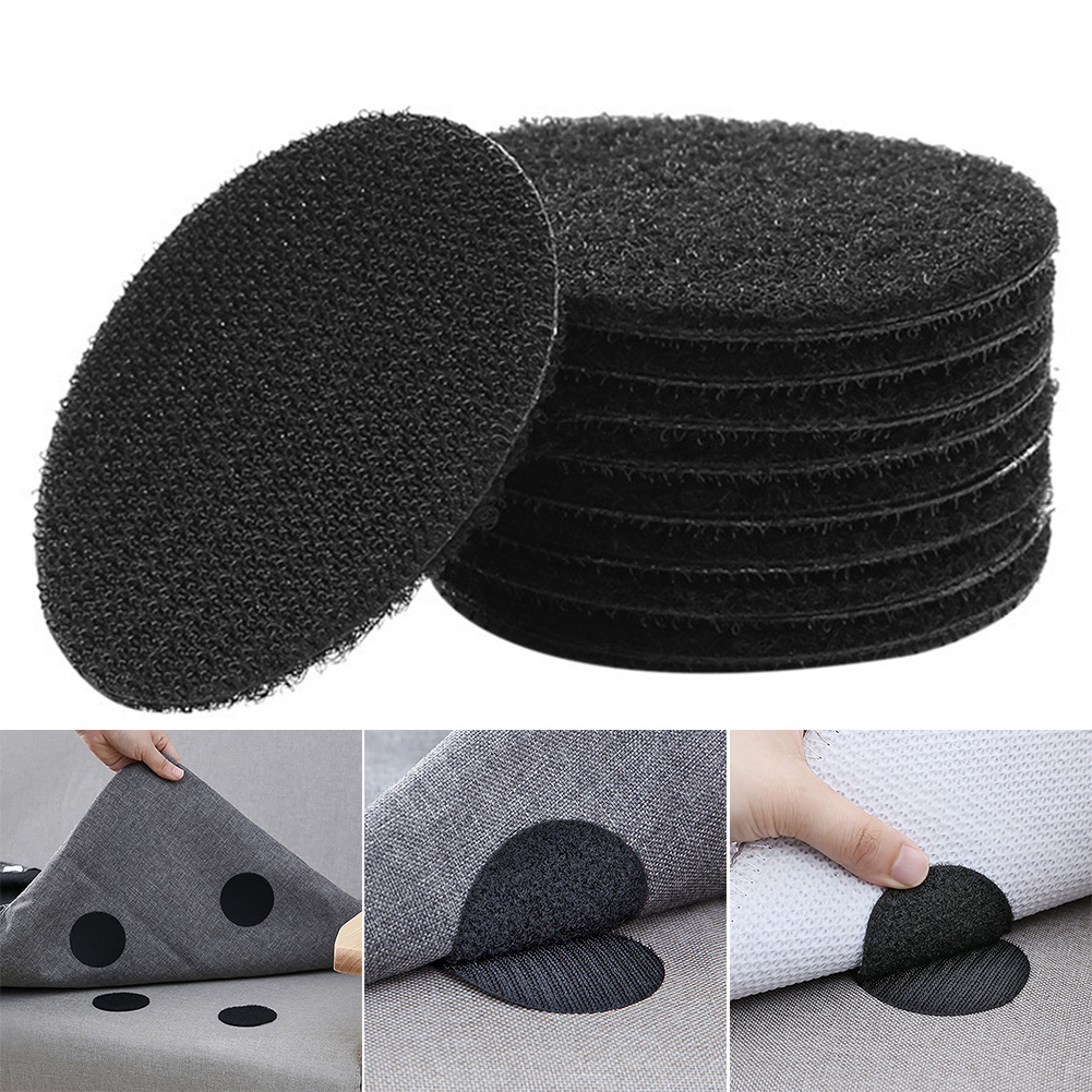 25 Pair Fixed Seamless PVC Sofa Solid Fastener Cushion Paste Universal Magic Sticker Home Anti Slip Tape Self Adhesive