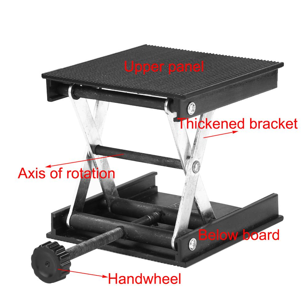 Aluminum Router Lift Table Woodworking Engraving Lab Lifting Stand  Rack Lift Adjustable Drill Mini Table  Woodworking Tools
