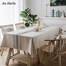 Nordic obrus prostokątna kuchnia haftowana jadalnia obrus obrus na imprezę ślub kominek dekoracja blatu