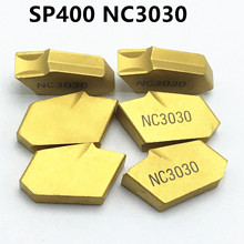 20pcs SP400 NC3030 slotted carbide blade turning tool cutting and grooving segmentation