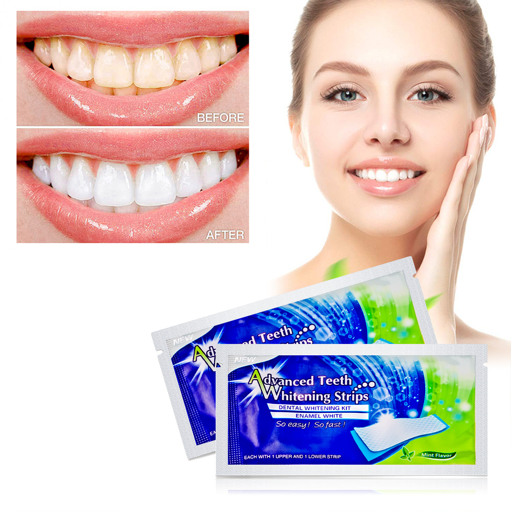 Professional 14 Pcs Teeth Whitening Strips Oral Hygiene Mint Flavor Dental Care 3D Teeth Whitening Strips