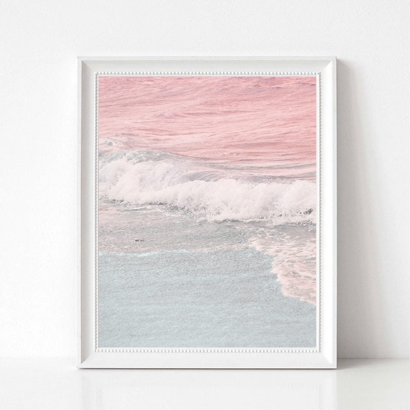 Pink Sea Canvas Art Print