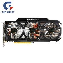 Gigabyte GTX 760 4GB tarjeta de vídeo GPU NVIDIA GTX760 4G OC gráficos tarjetas de PC de escritorio Pantalla de mapa de juego de ordenador 750 730 VGA tarjeta de vídeo