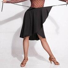 Модная юбка для латинских танцев Женская одежда для бальных тренировок Одежда для танцев ча танго сальса самба румба тренировочный наряд шарф DF1566
