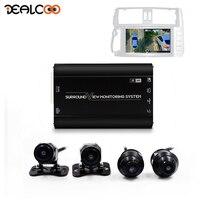 Dealcoo Surround View Dash Cam HD Around View Bird View 360 Car Camera System 3D Camera 360 Camera for Car All Round View Camera