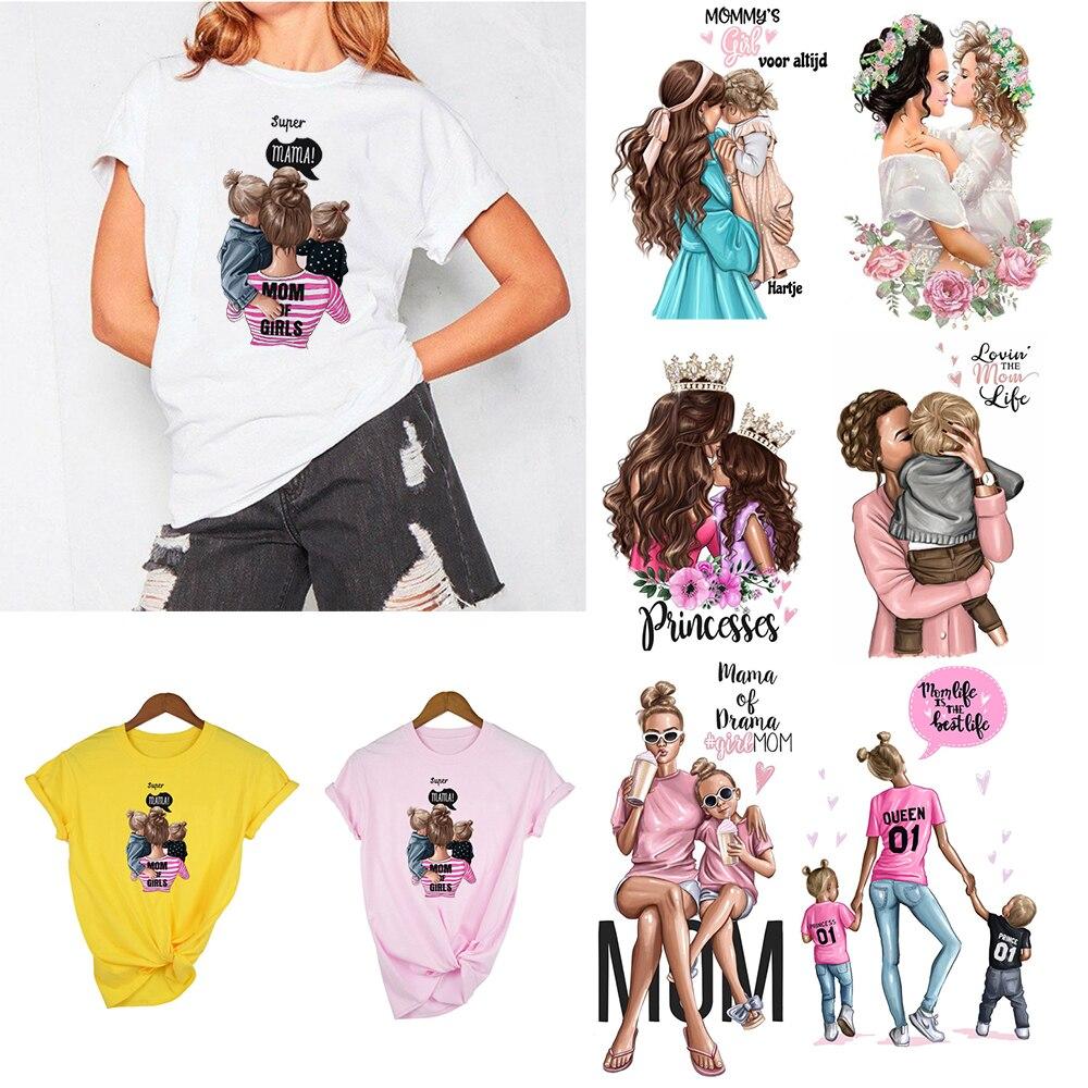 Super Mama Mom of Girls Mommys Girl T Shirt Women Mothers Love Mom Life White Pink T-shirt Harajuku Tops Tee Shirts Femme Summer