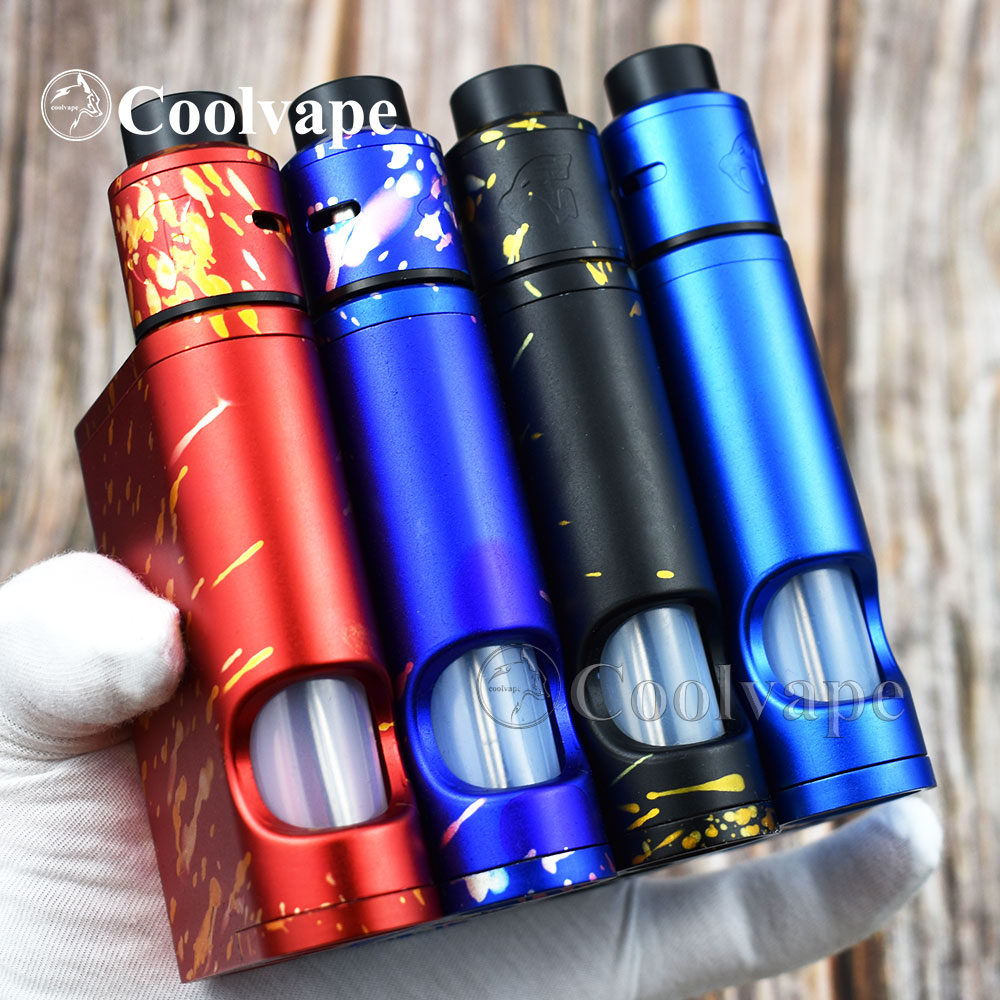 528 Custom Goon Driptech-DS 528 BF Box Kit In  Parallel Aluminum 2*10ml Vaporizer Mod 2*18650 Batteries E-cigarette KIT