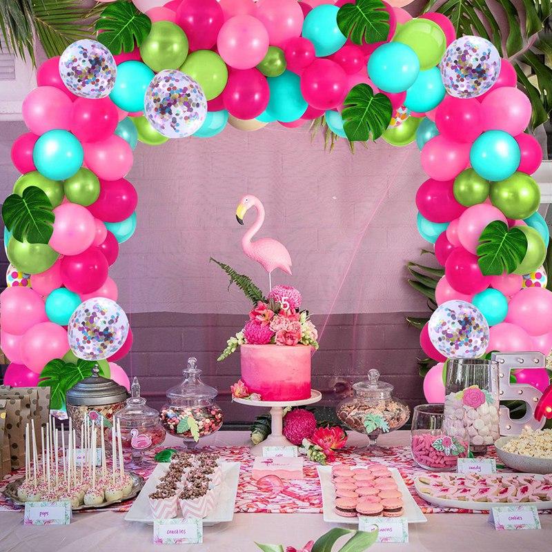 Летние тропические гавайские фотообои Staraise с розовым фламинго, тропические гавайские украшения для вечеринок